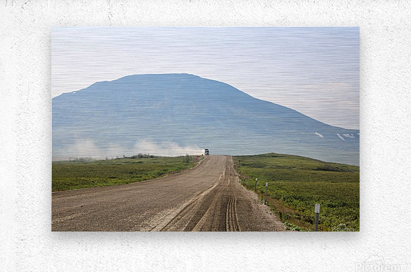 Truck on the Dempster  Metal print