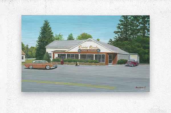 Cross Roads Store- Newtown Scenes 12 X 20   Metal print