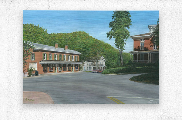 The Brick Store - Newtown Scenes 18 X 26   Metal print