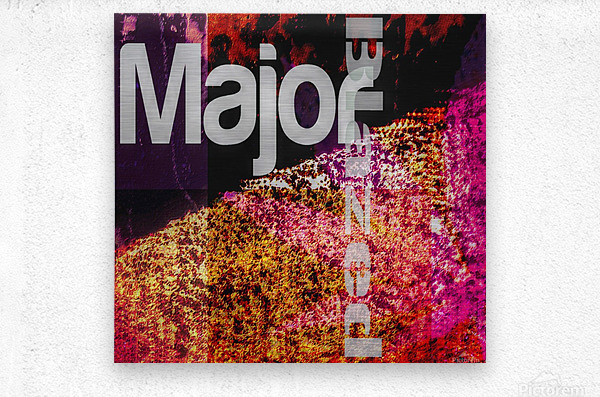 MajorBlazed Pink Fields  Metal print