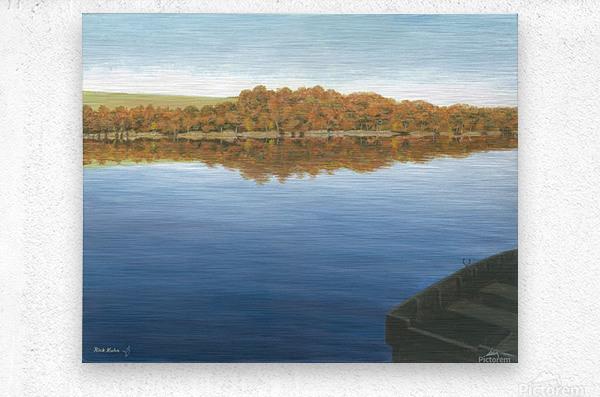 Rowboat on Taunton Lake - Newtown Scenes 16X20  Metal print