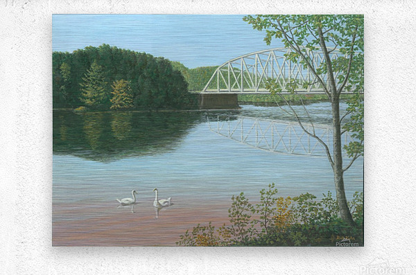 Silver Bridge - Newtown Scenes 18X24  Metal print