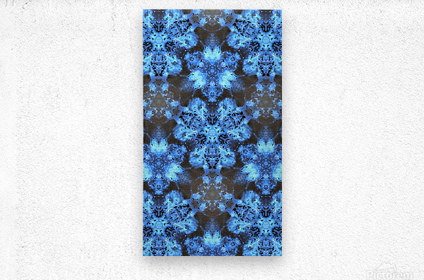 Kaleidoscope Burst of Blue   Metal print