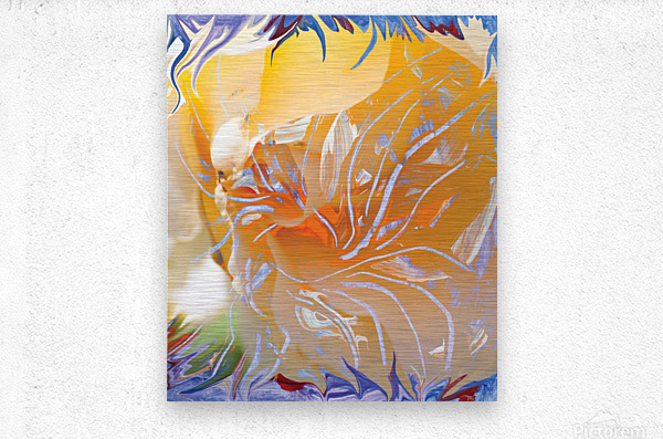 warm colors abstraction  Metal print
