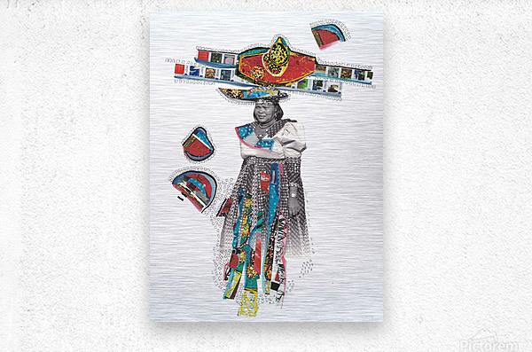 Herero Woman 7  Metal print