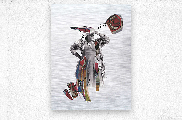 Herero woman 1  Metal print