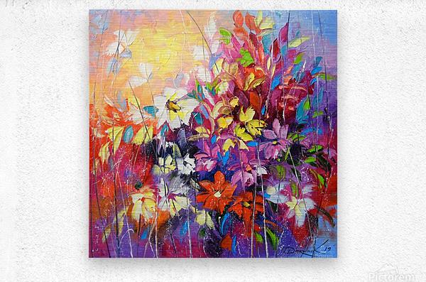 Dance of flowers  Metal print
