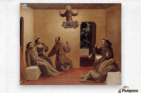 Apparition of St. Francis at Arles  Metal print