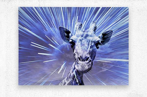 Giraffe pop 2    Metal print