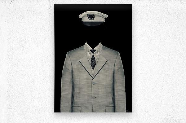 Surreal Officer Man Portrait  Metal print