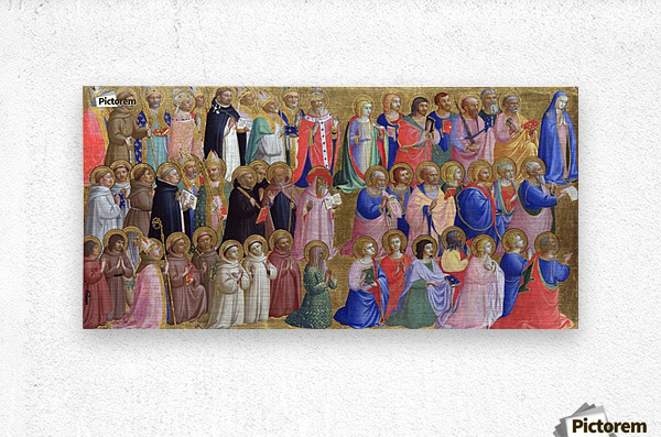The Virgin Mary with the Apostles and Saints  Metal print