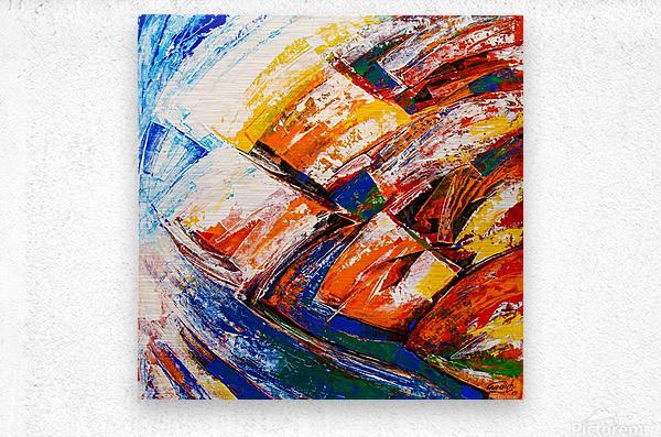 FLOW OF DREAMS_7 - 18x18  Metal print