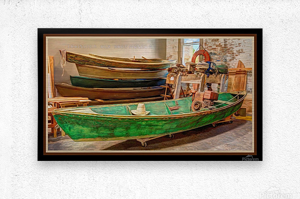 LOUISIANA OLD BOAT MUSEUM  Metal print