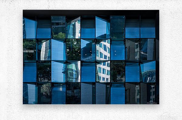 Blue Mirrors  Metal print