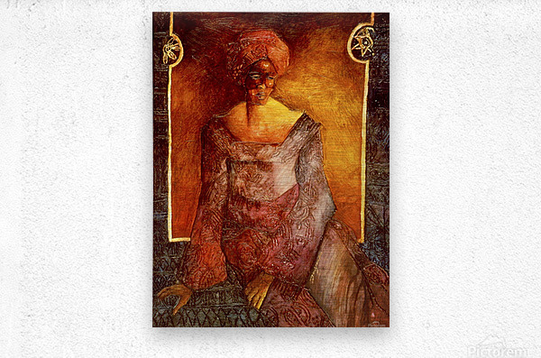 Femme Africaine  Metal print