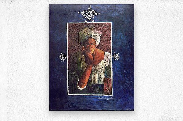 Femme au turban  Metal print