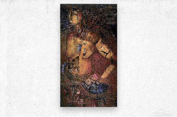 Jeun femme beninoise  Metal print