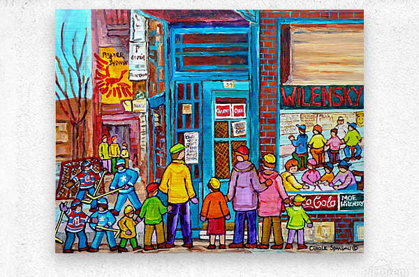 MONTREAL PAINTINGS  WILENSKY COUNTER FAIRMOUNT AND CLARK WINTER SCENES  Metal print