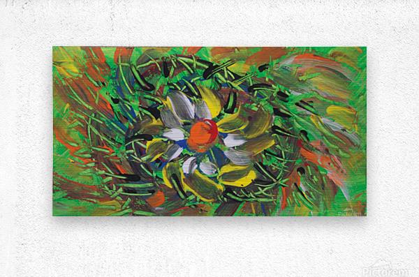 savage flower meadow abstraction  Metal print