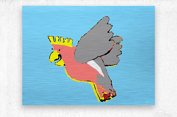 Laughing Galah - Blue  Metal print