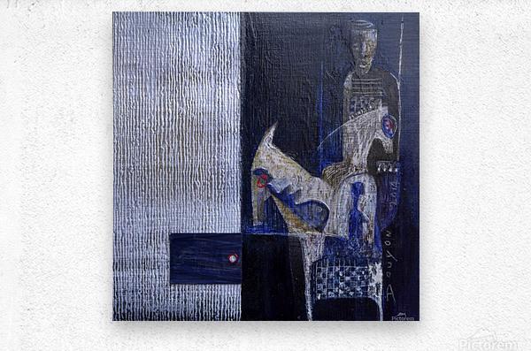 Blue Horserider 1  Metal print