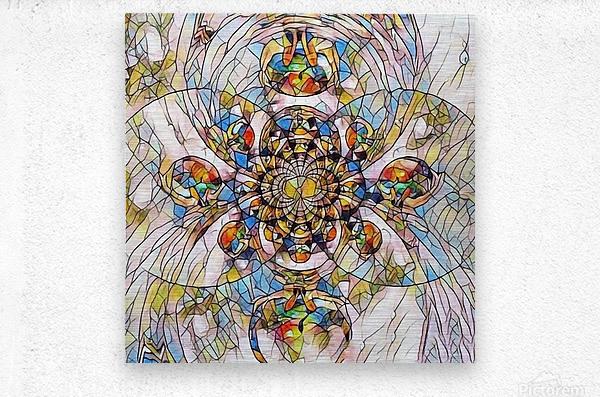Mosaic Fractal  Metal print