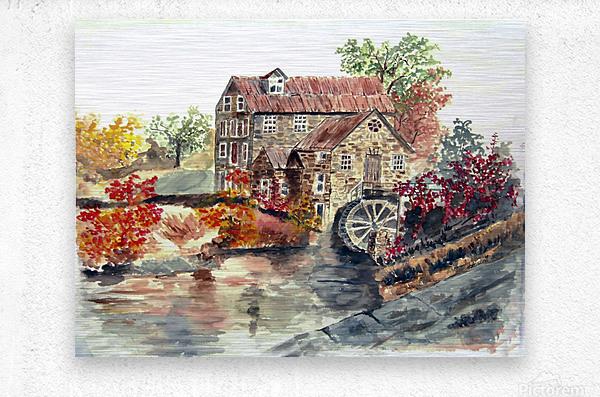 Farm House  Metal print