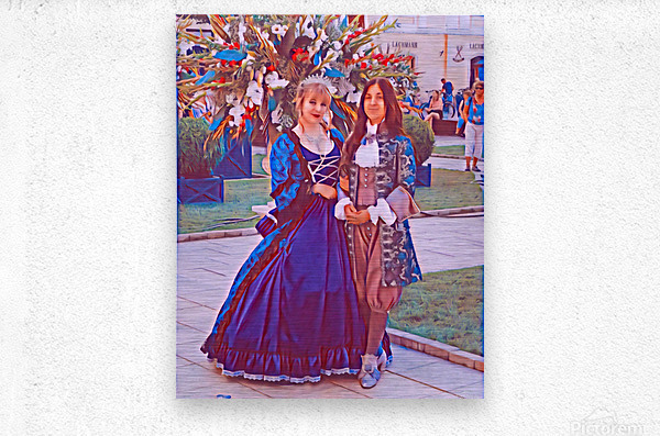 The infant womans partner  Metal print