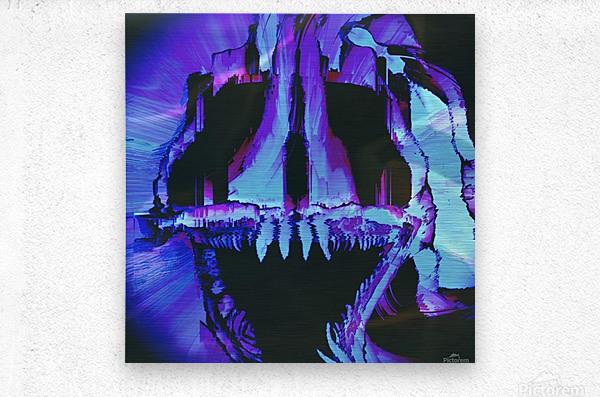 Wolf Eel Skull  Metal print