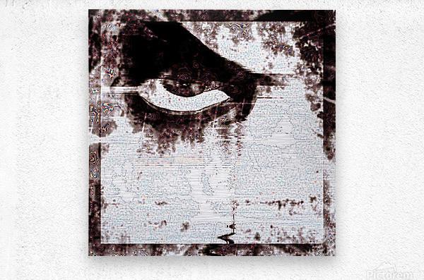 Modern Eye Emboss  Metal print