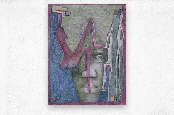 le masque 3  Metal print
