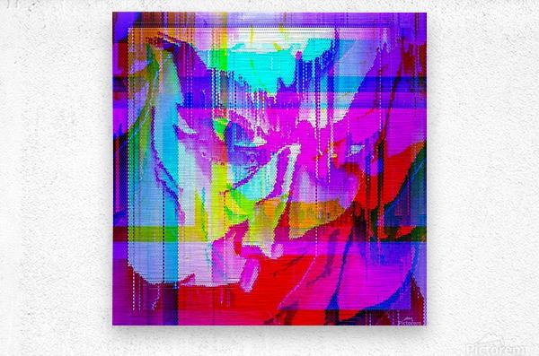 Modern Abstract Portrait   Metal print