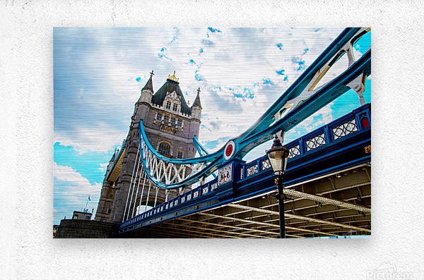 The Might of Tower Bridge  Metal print