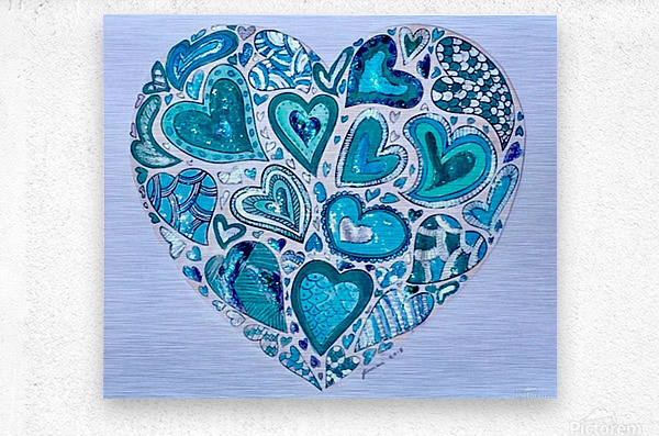 Blue Hearts  Metal print