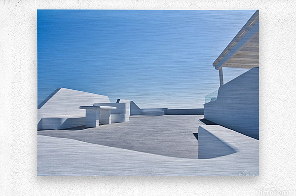 Cyclades White Architecture Design  Metal print