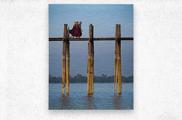 U-bein bridge Myanmar  Metal print
