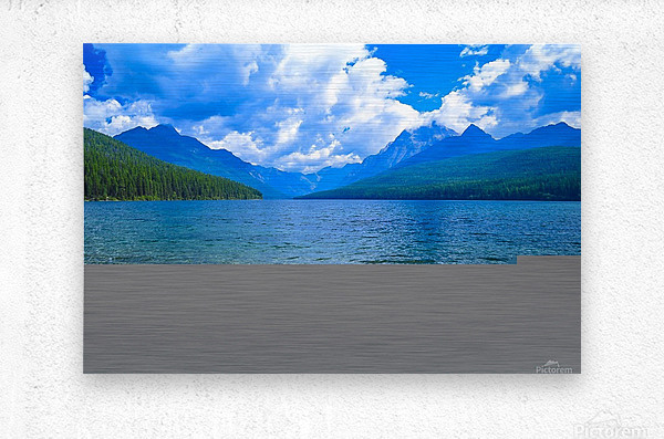 Bowman Lake  Metal print