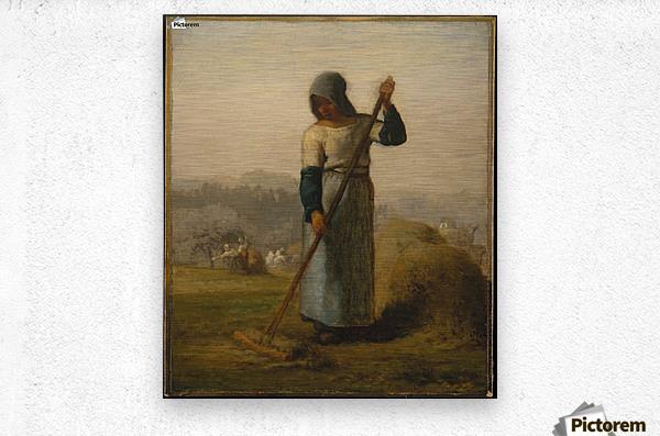 Woman with a Rake  Metal print