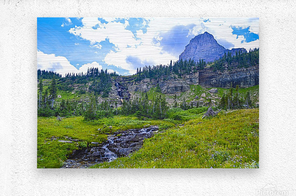 Logan Creek  Metal print
