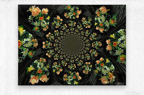 Floral Creation  Metal print