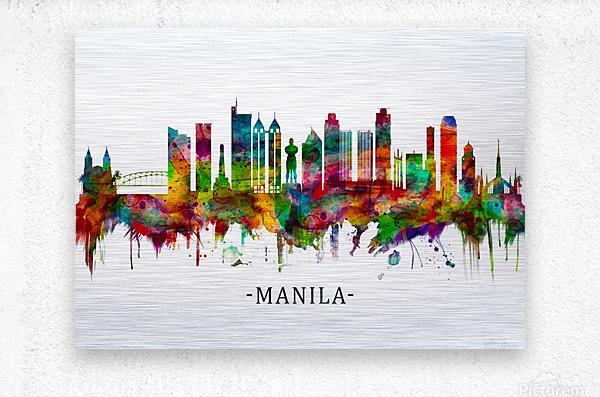 Manila Philippines Skyline  Metal print