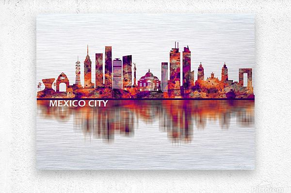 Mexico City Mexico Skyline  Metal print