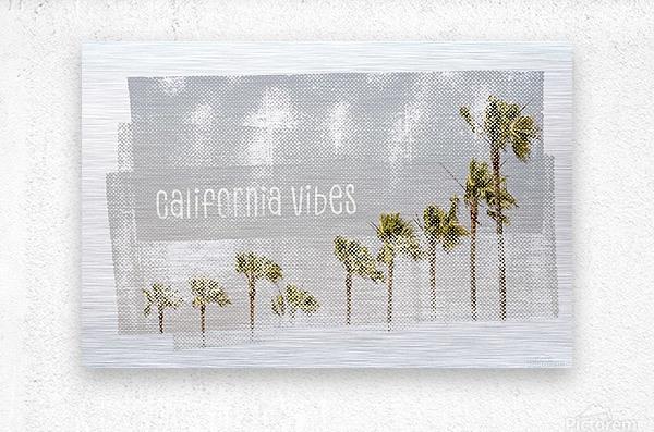 California Vibes   Vintage  Metal print