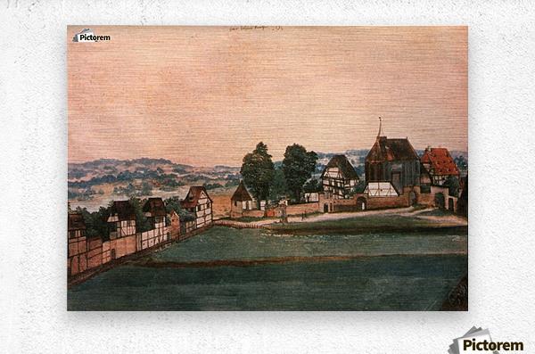 Erlauterung Johanniskirchhof  Metal print