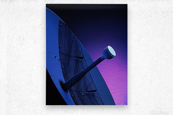 Blue Antenna  Metal print