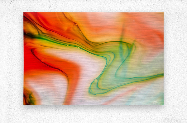 The colorful background of freeform floating watercolor  Metal print