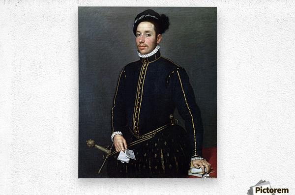 Portrait of a Gentleman ('Il Gentile Cavaliere')  Metal print