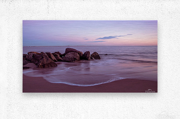 Coney Island sunset  Metal print