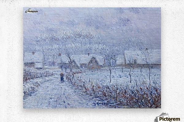 Wind with Snow, 24 March 1899, Saint-Cyr-du-Vaudreuil  Metal print