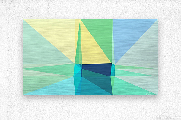 abstract colorful geometric shapes  Metal print